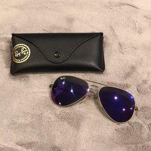 Purple Ray-ban Aviators